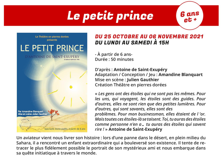 Le Petit Prince, l'Ile au trésor... une programmation Jeune public du Comédie Odéon NEWSLETTER-Jeune-public-Septembre-2021-3